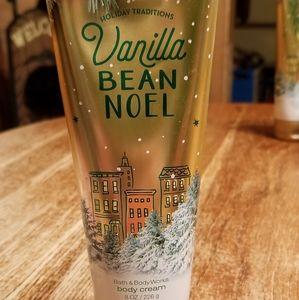 Bath and Body Works Body Cream Vanilla Bean Noel